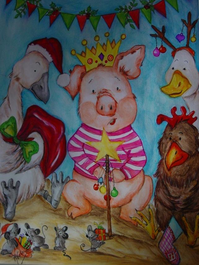 O Natal no celeiro, os três porquinhos e os seus amigos!